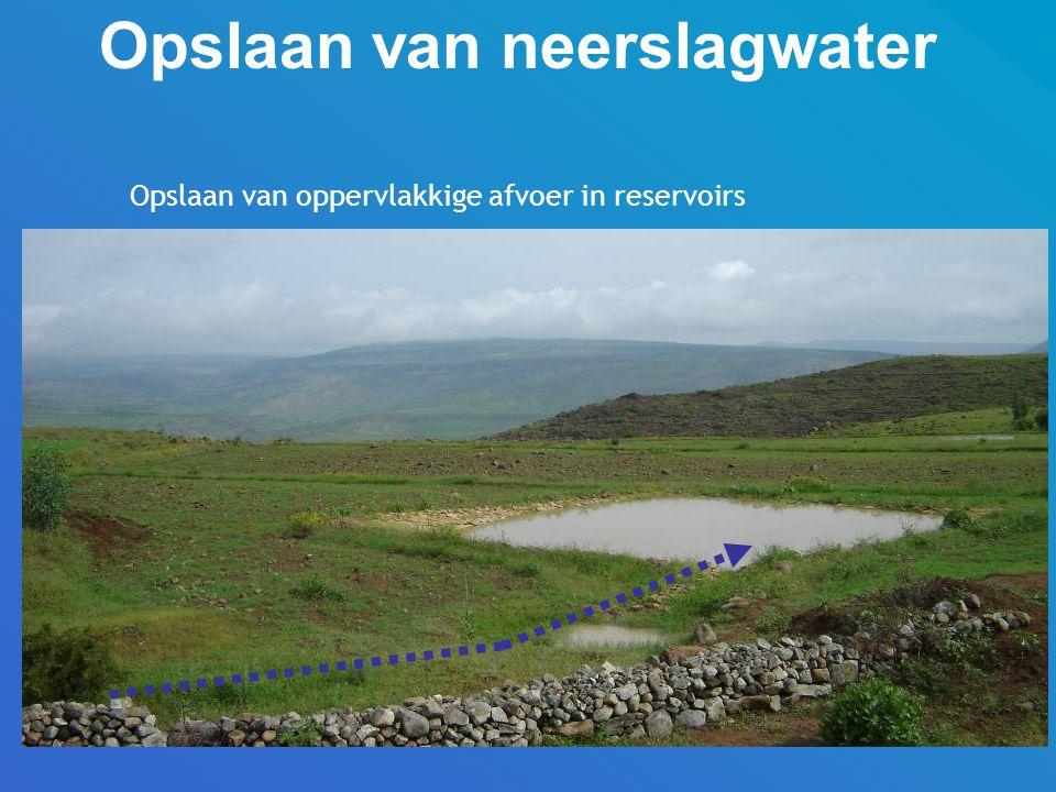Opslaan van oppervlakkige afvoer in reservoirs Opslaan van neerslagwater