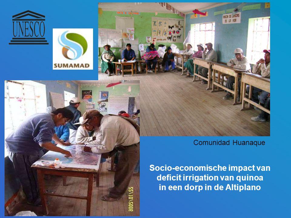 Comunidad Huanaque Socio-economische impact van deficit irrigation van quinoa in een dorp in de Altiplano