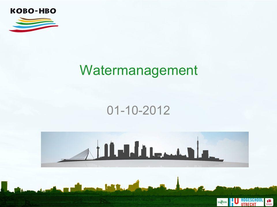 Inhoud Watermanagement en de ondergrond.
