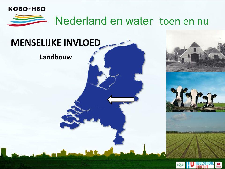 Nederland en water toen en nu MENSELIJKE INVLOED Industrie