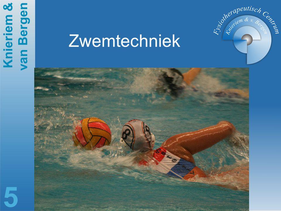 Knieriem & van Bergen 6 Sportspecifieke belasting Gebrek aan vast steunpunt vereist meer kracht om te werpen.
