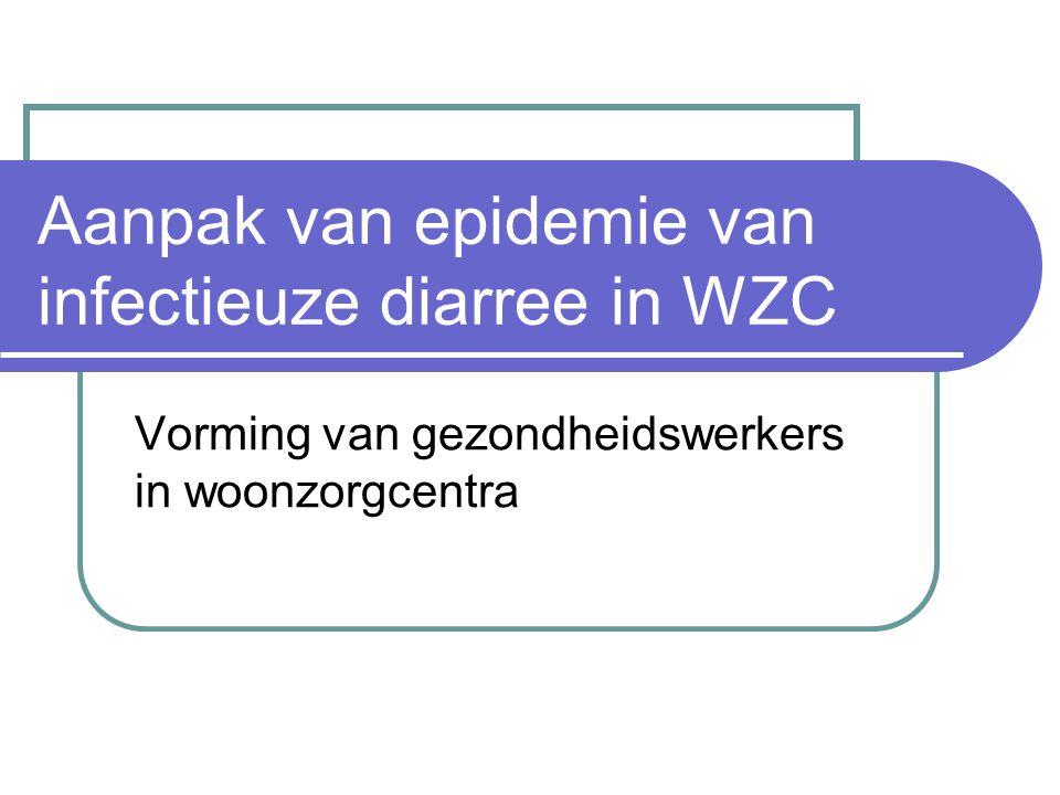 Aanpak van epidemie van infectieuze diarree in WZC Vorming van gezondheidswerkers in woonzorgcentra