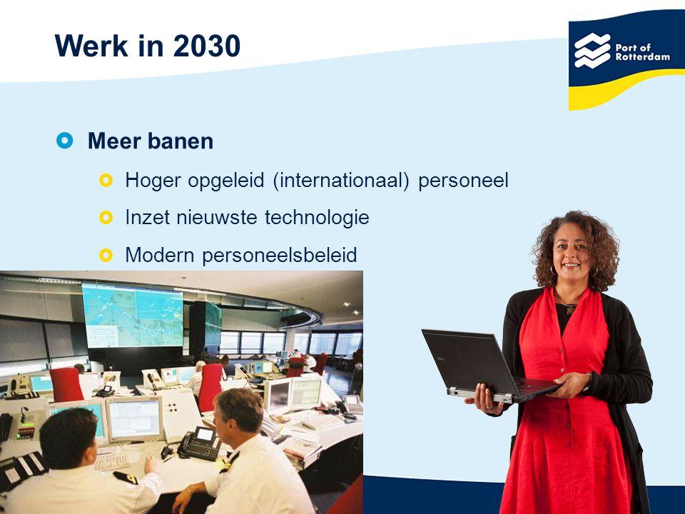 Werk in 2030  Meer banen  Hoger opgeleid (internationaal) personeel  Inzet nieuwste technologie  Modern personeelsbeleid