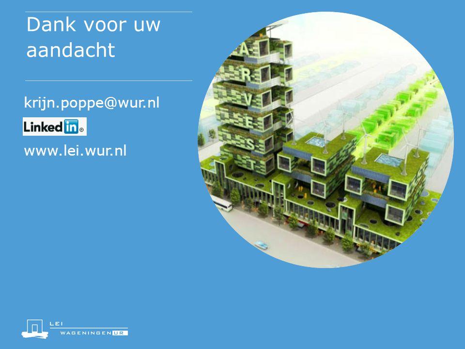 Dank voor uw aandacht krijn.poppe@wur.nl www.lei.wur.nl