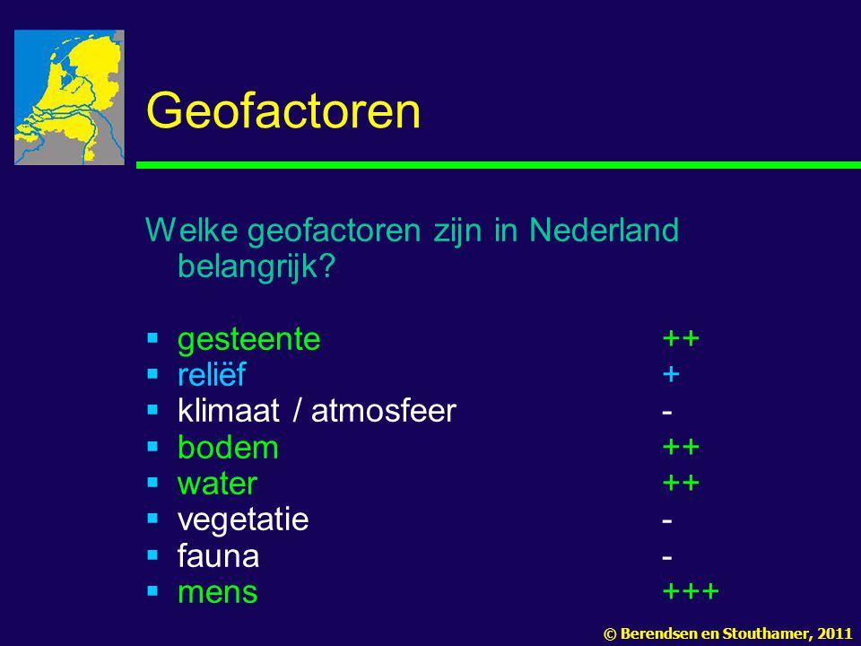 Geofactoren Welke geofactoren zijn in Nederland belangrijk.