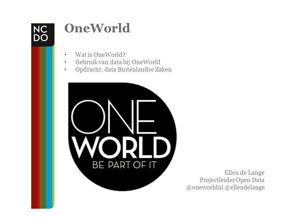 Platform OneWorld Magazine, website en live events