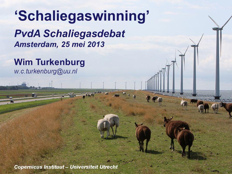 'Schaliegaswinning' PvdA Schaliegasdebat Amsterdam, 25 mei 2013 Wim Turkenburg w.c.turkenburg@uu.nl Copernicus Instituut – Universiteit Utrecht