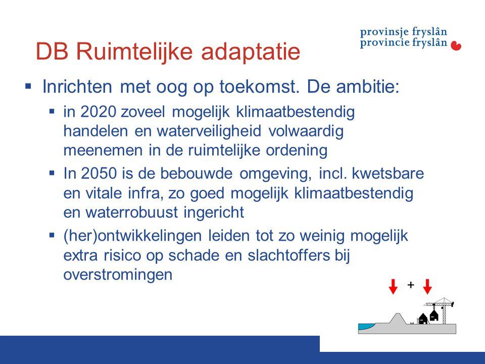 DB Ruimtelijke adaptatie  Inrichten met oog op toekomst.