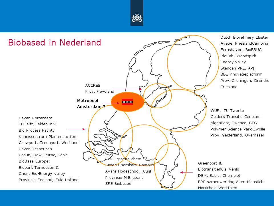 Dutch Biorefinery Cluster Avebe, FrieslandCampina Eemshaven, BioBRUG BioCab, Woodspirit Energy valley Stenden PRE, API BBE innovatieplatform Prov.