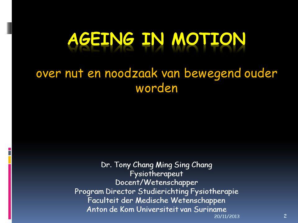 over nut en noodzaak van bewegend ouder worden Dr.