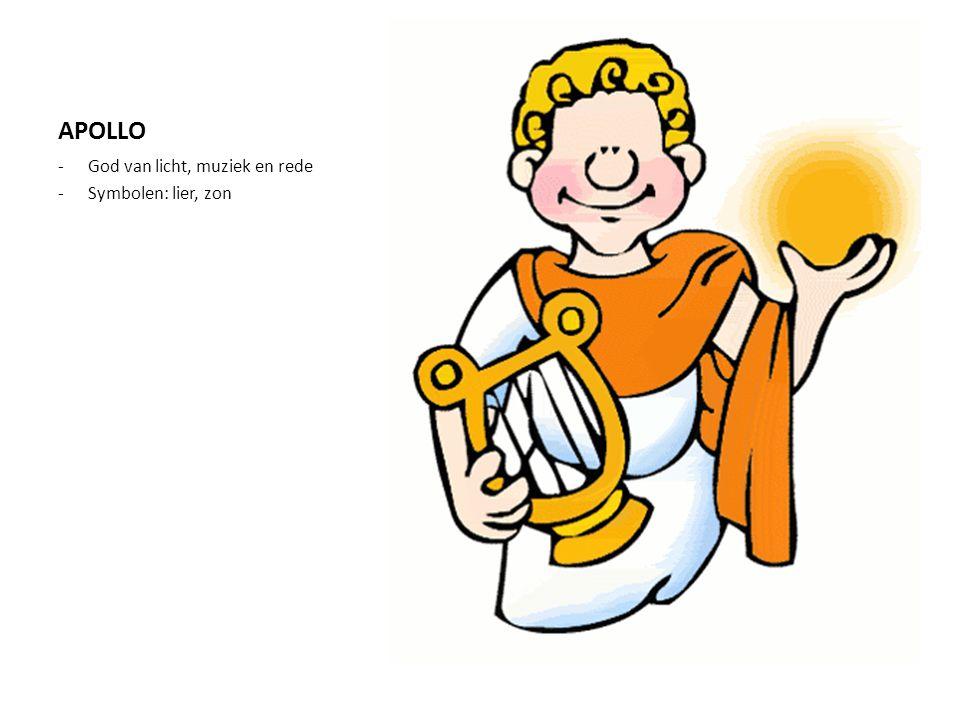 APOLLO -God van licht, muziek en rede -Symbolen: lier, zon