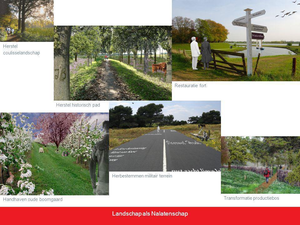Landschap als Nalatenschap Tom Bullens t.bullens@vp.nl 033-2851685