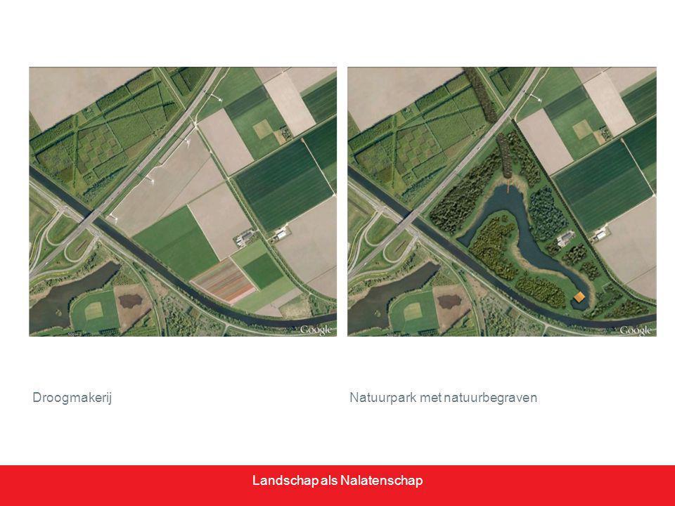 Natuurbegraafplaats in een droogmakerij>> aanleg van open water met hogere bosranden Landschap als Nalatenschap