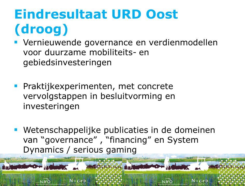  Vernieuwende governance en verdienmodellen voor duurzame mobiliteits- en gebiedsinvesteringen  Praktijkexperimenten, met concrete vervolgstappen in