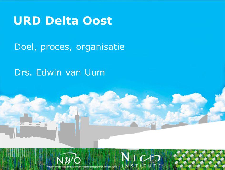Duurzame ontwikkeling èn governance regio Arnhem Nijmegen:  Multi-level governance strategie  Effectief besluitvormingsproces  Inzet van nieuwe instrumenten  Financierbaarheid en nieuwe verdienmodellen Doelen