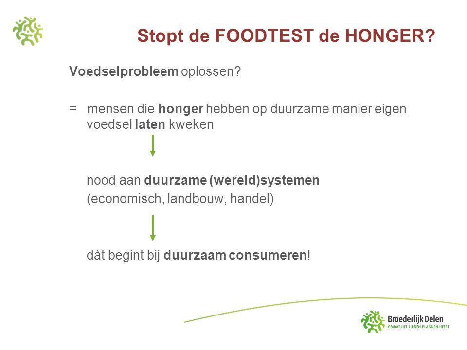 Voedselprobleem oplossen? = mensen die honger hebben op duurzame manier eigen voedsel laten kweken nood aan duurzame (wereld)systemen (economisch, lan
