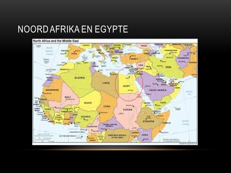 EGYPTE Egypte is een land in Noord- Afrika De hoofdstad van Egypte is Caïro Egypte bestaat grotendeels uit woestijn