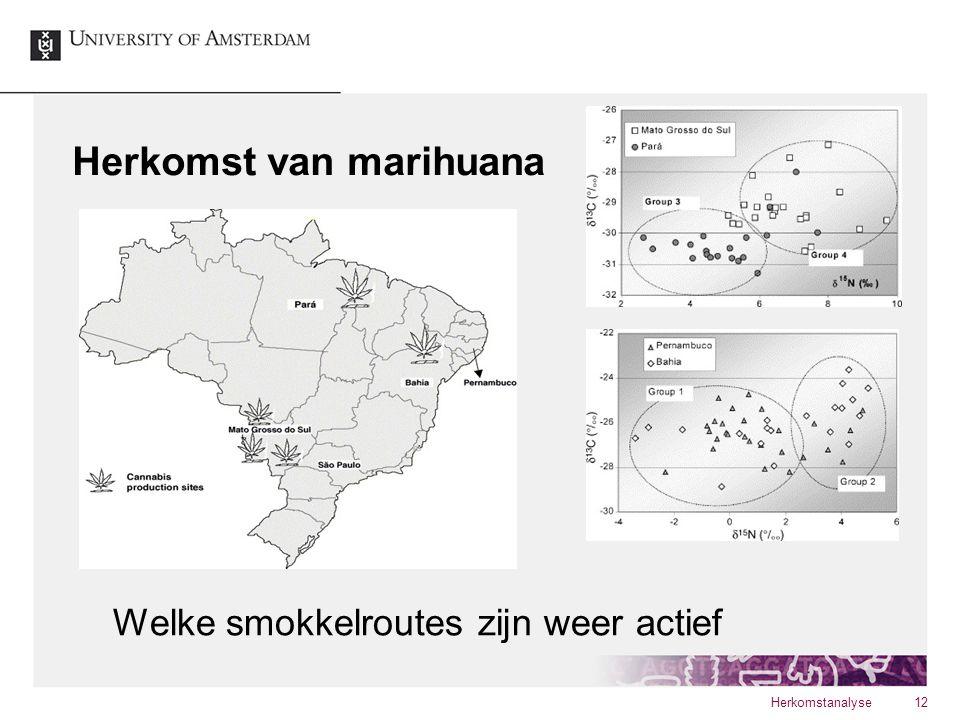 Herkomst van marihuana Herkomstanalyse12 Welke smokkelroutes zijn weer actief