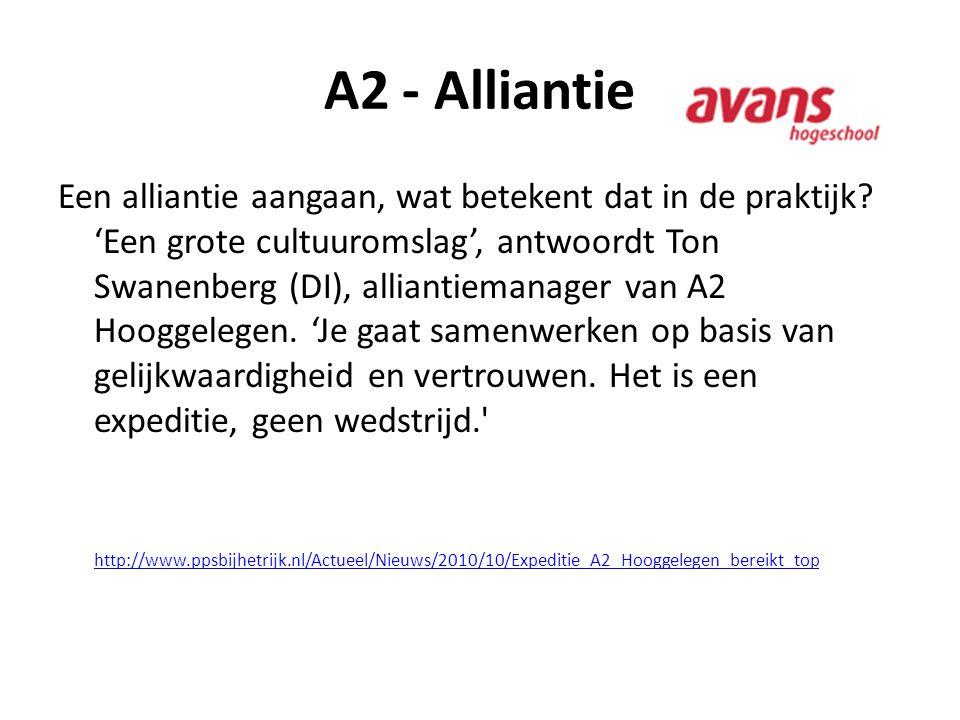 A2 - Alliantie Een alliantie aangaan, wat betekent dat in de praktijk? 'Een grote cultuuromslag', antwoordt Ton Swanenberg (DI), alliantiemanager van