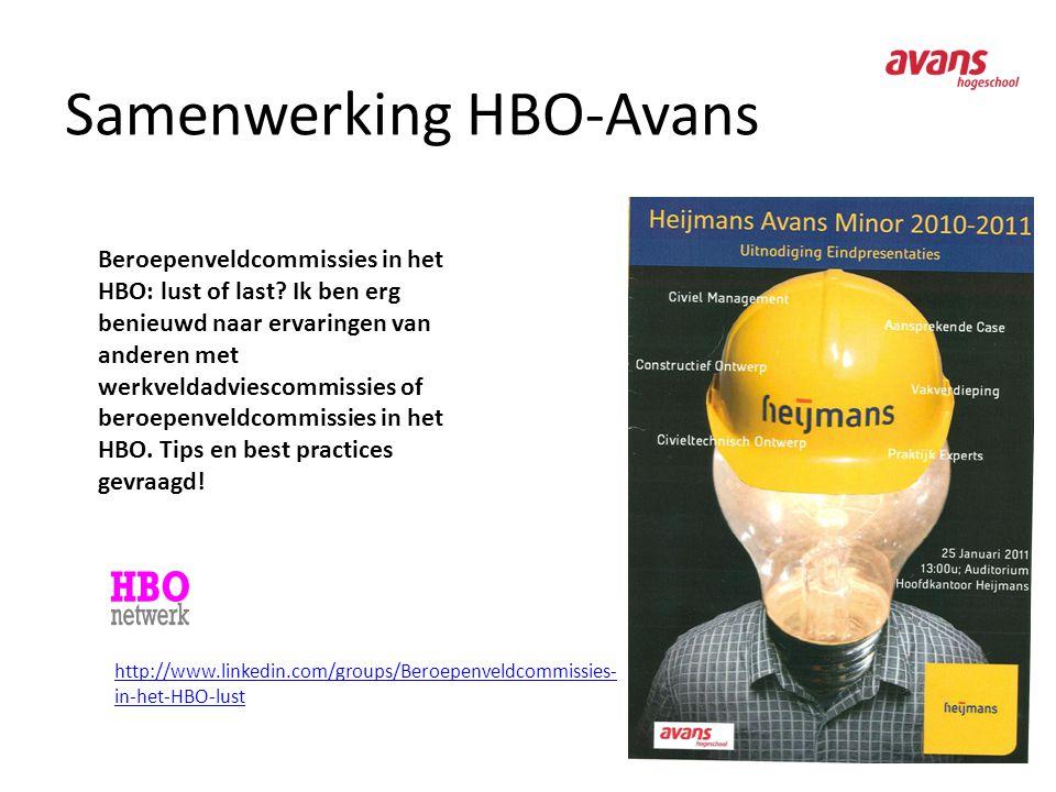 Samenwerking HBO-Avans Beroepenveldcommissies in het HBO: lust of last? Ik ben erg benieuwd naar ervaringen van anderen met werkveldadviescommissies o