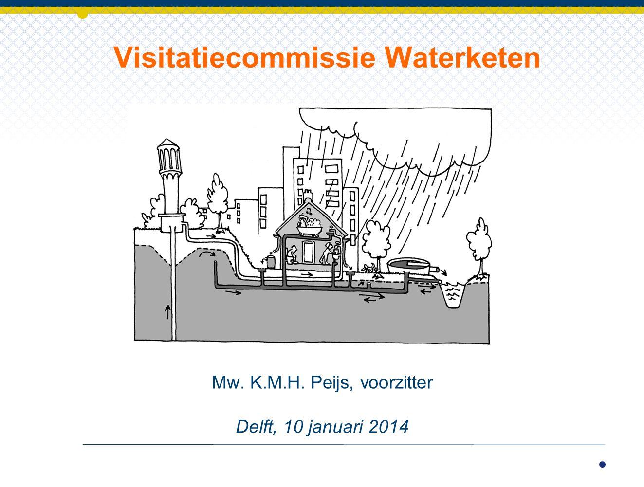 Mw. K.M.H. Peijs, voorzitter Delft, 10 januari 2014 Visitatiecommissie Waterketen
