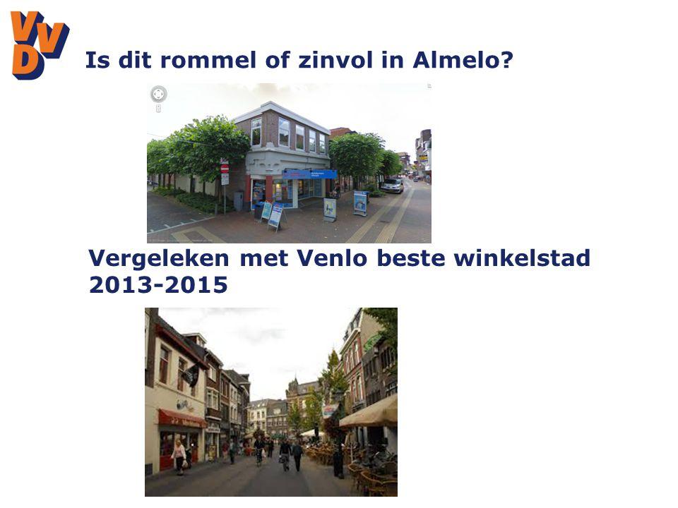 Is dit rommel of zinvol in Almelo Vergeleken met Venlo beste winkelstad 2013-2015