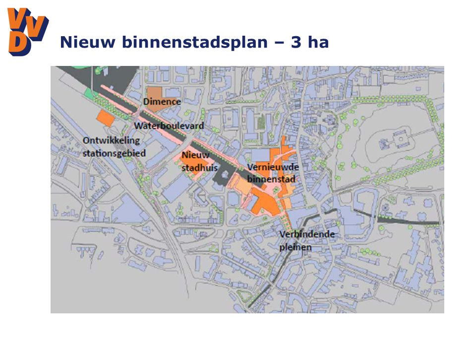Nieuw binnenstadsplan – 3 ha