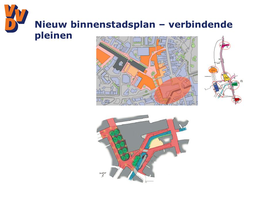 Nieuw binnenstadsplan – verbindende pleinen