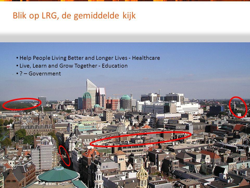 Blik op LRG, de gemiddelde kijk Help People Living Better and Longer Lives - Healthcare Live, Learn and Grow Together - Education ? – Government
