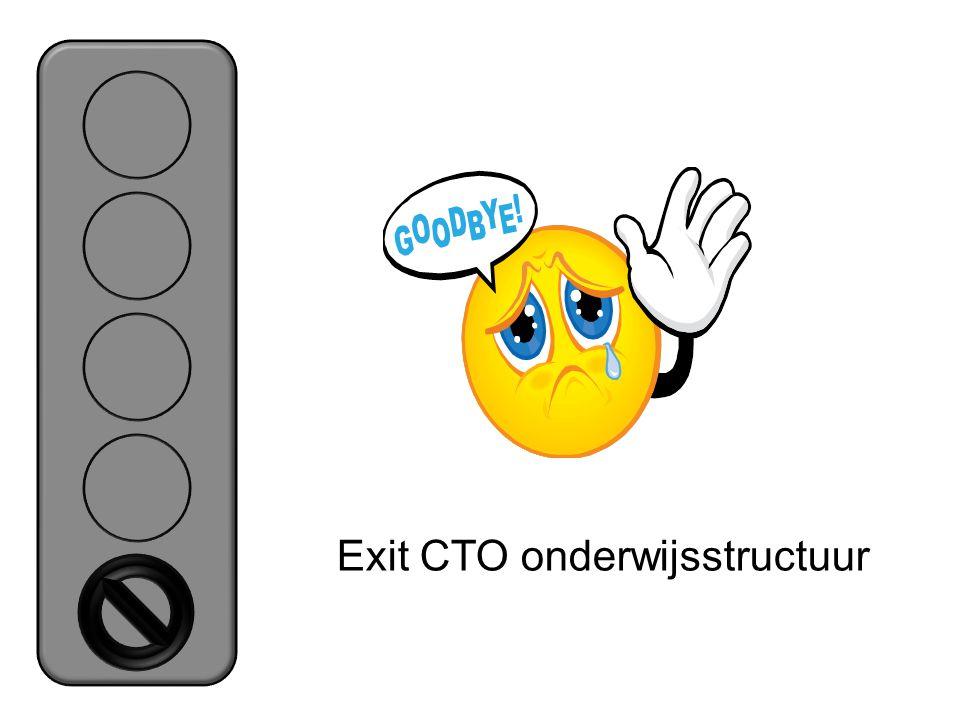 Exit CTO onderwijsstructuur