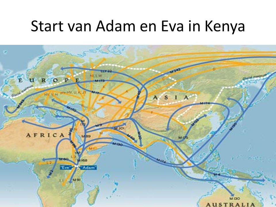Start van Adam en Eva in Kenya