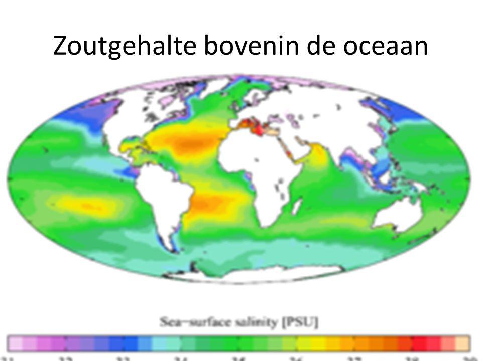 Zoutgehalte bovenin de oceaan