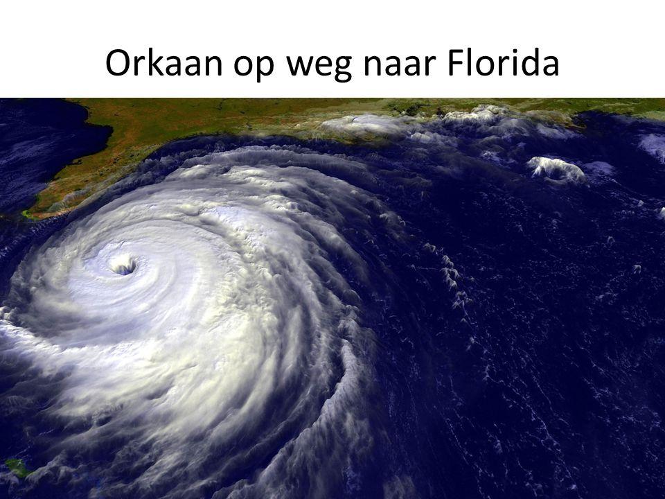 Orkaan op weg naar Florida