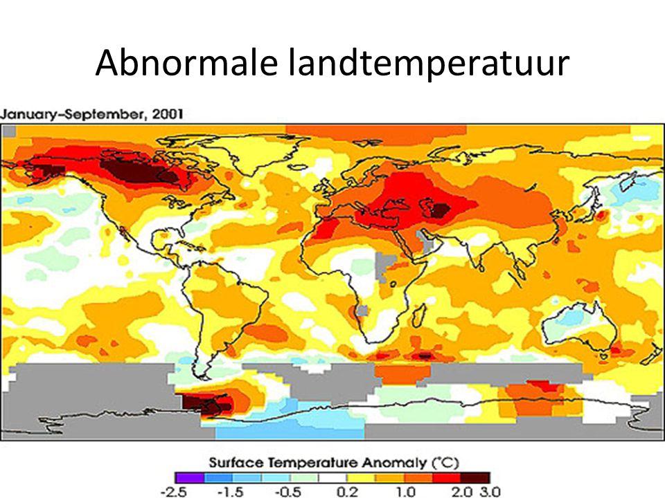 Abnormale landtemperatuur