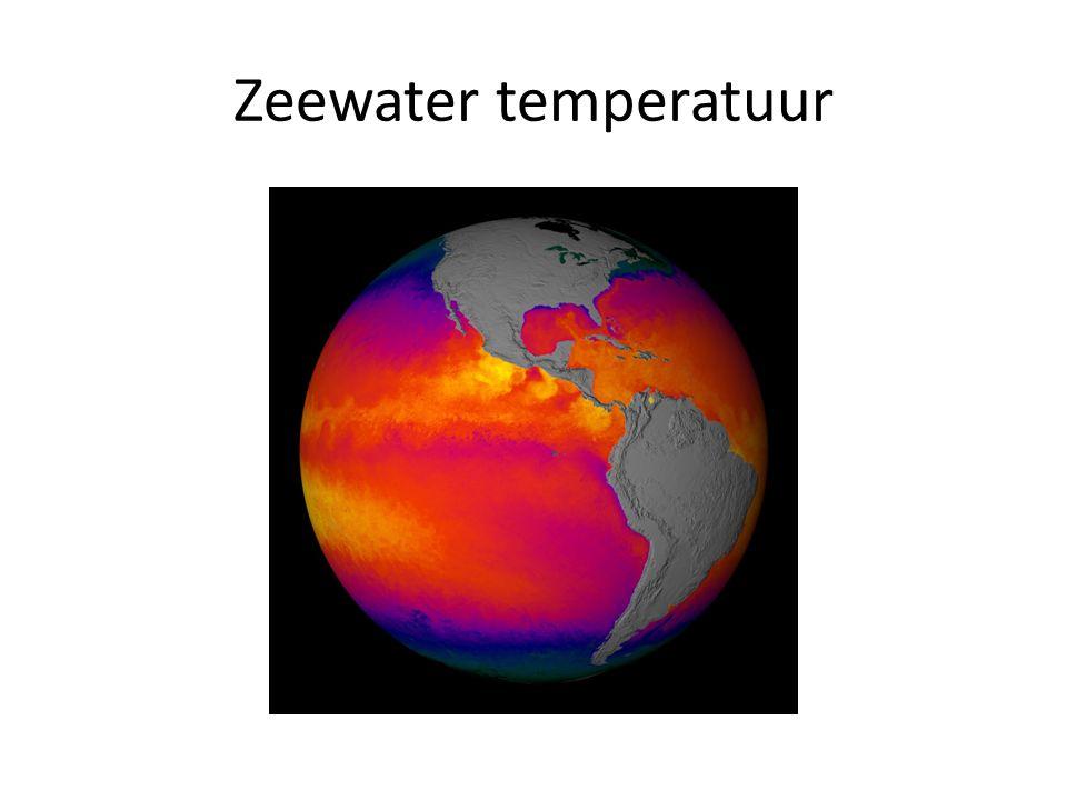 Zeewater temperatuur