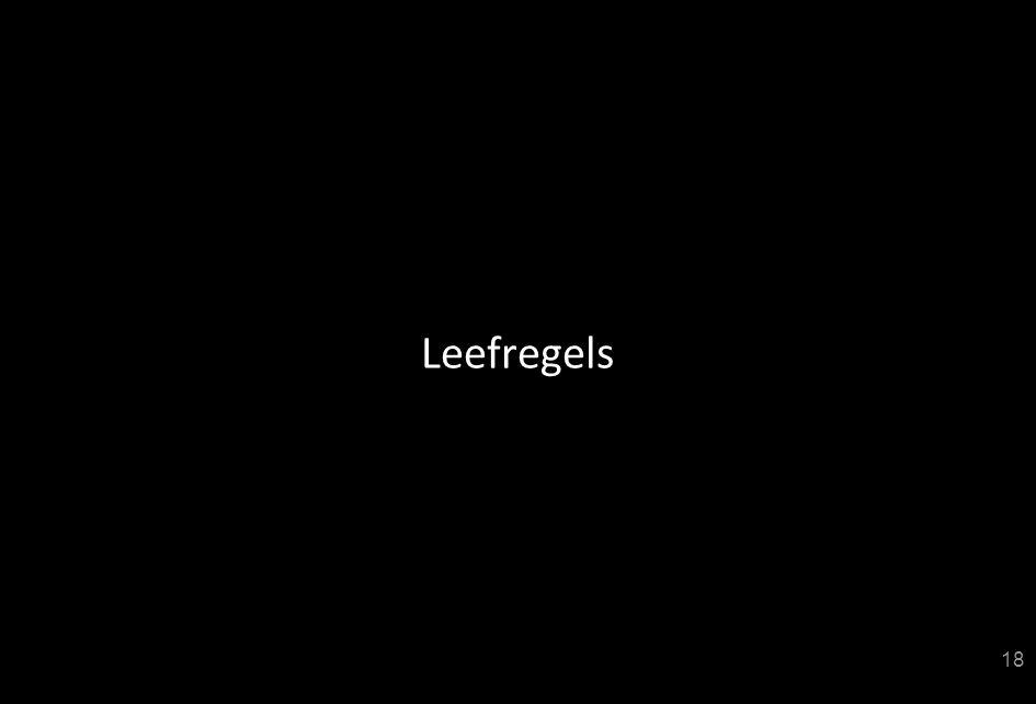 Leefregels 18