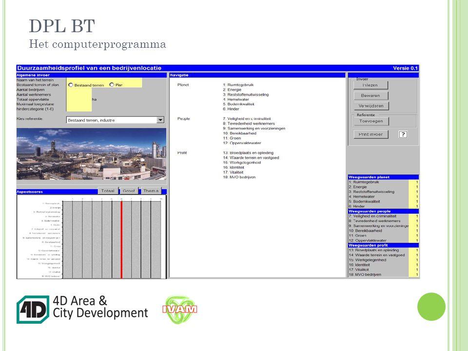 DPL BT Het computerprogramma