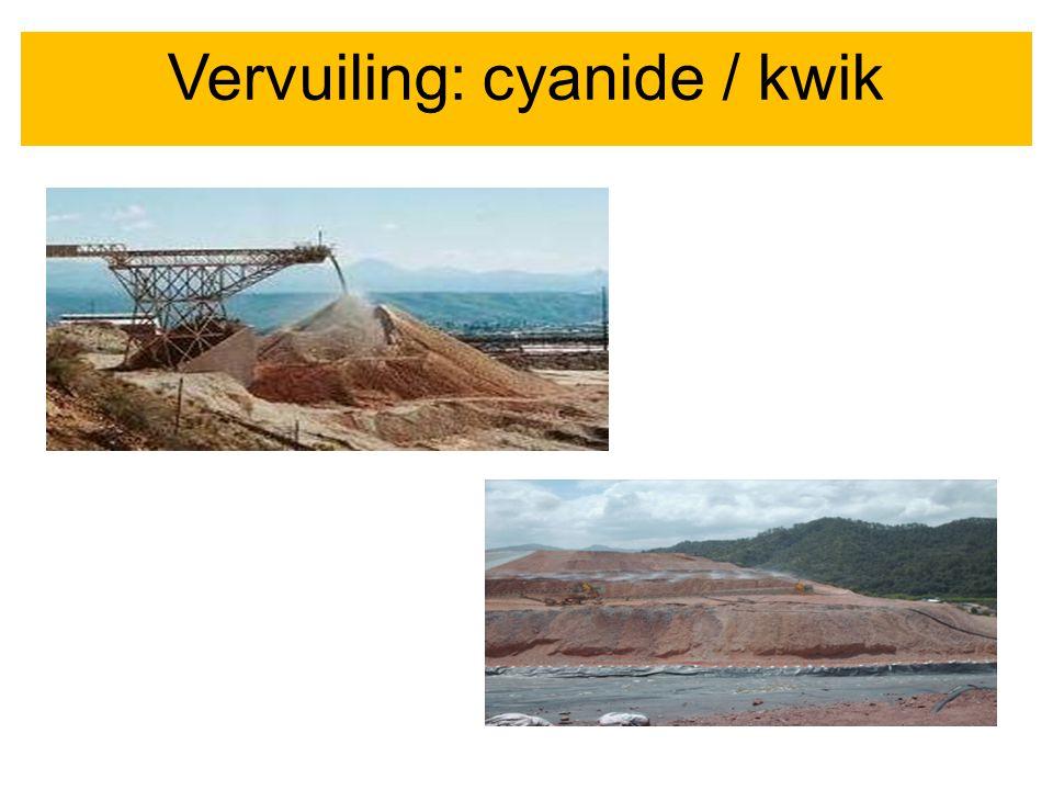 VervuilingVervuiling: cyanide / kwik