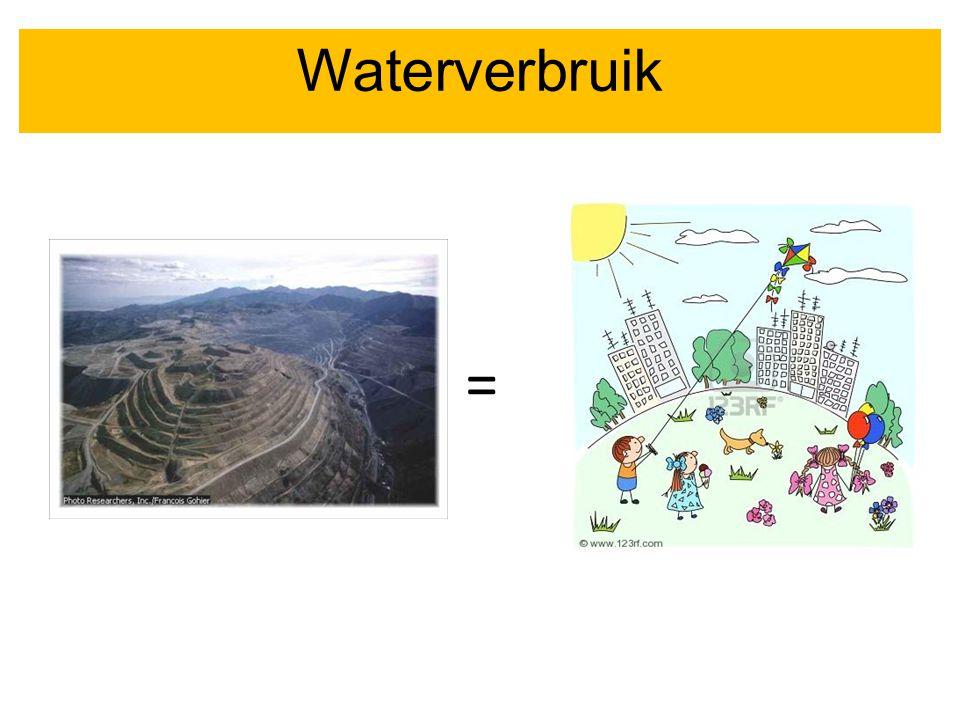 Gebruik van water = Waterverbruik