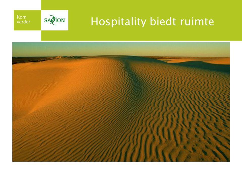 Hospitality biedt ruimte