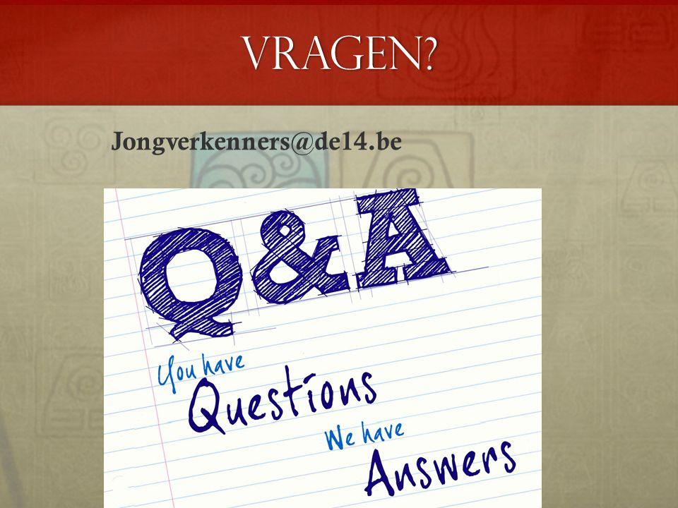 Vragen? Jongverkenners@de14.be