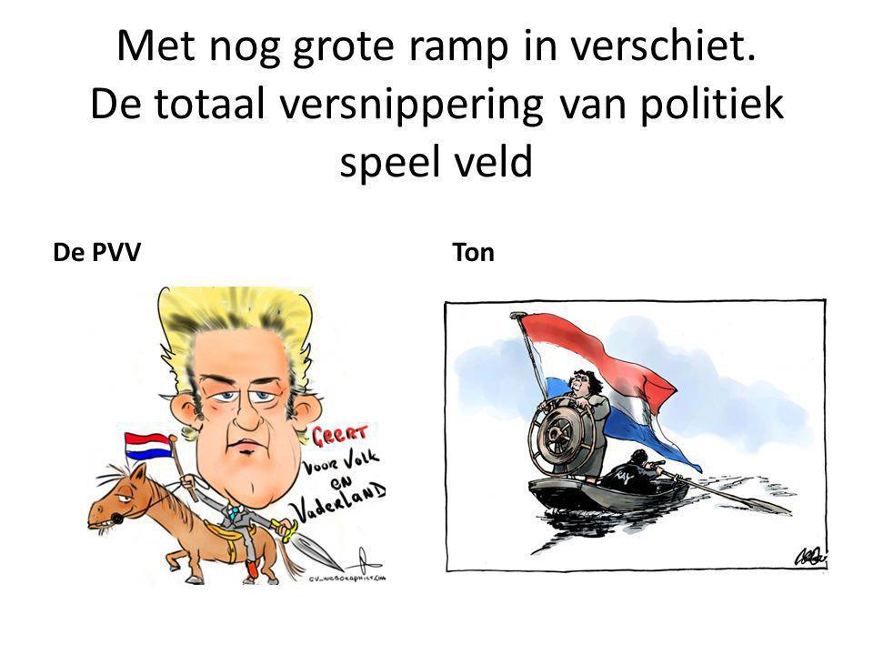 Met nog grote ramp in verschiet. De totaal versnippering van politiek speel veld De PVVTon