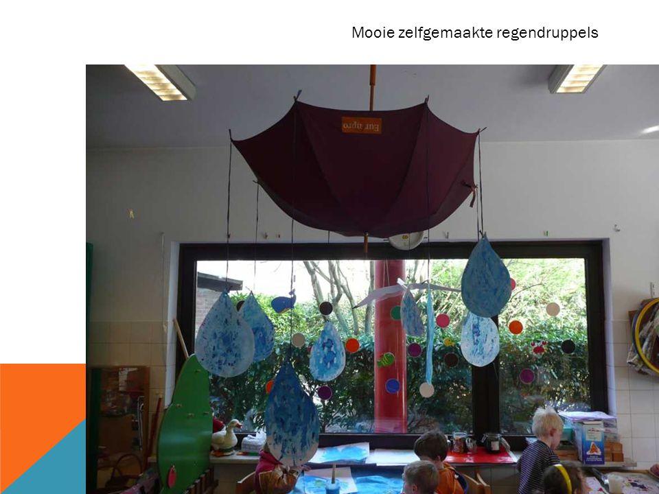 Mooie zelfgemaakte regendruppels