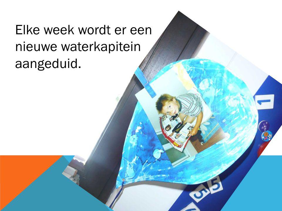 Elke week wordt er een nieuwe waterkapitein aangeduid.