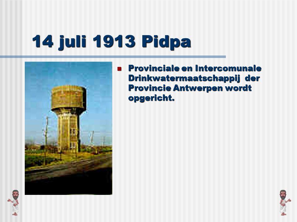 1910 Provincie Antwerpen Met uitzondering van Antwerpen en Turnhout moeten de mensen zich nog behelpen met water uit putten en beken.