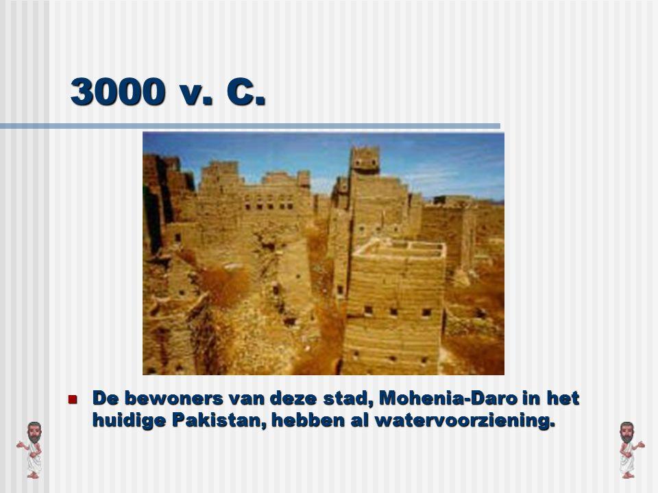 7000 jaar geleden De mens ontdekt dat je water kunt vinden door putten te graven.