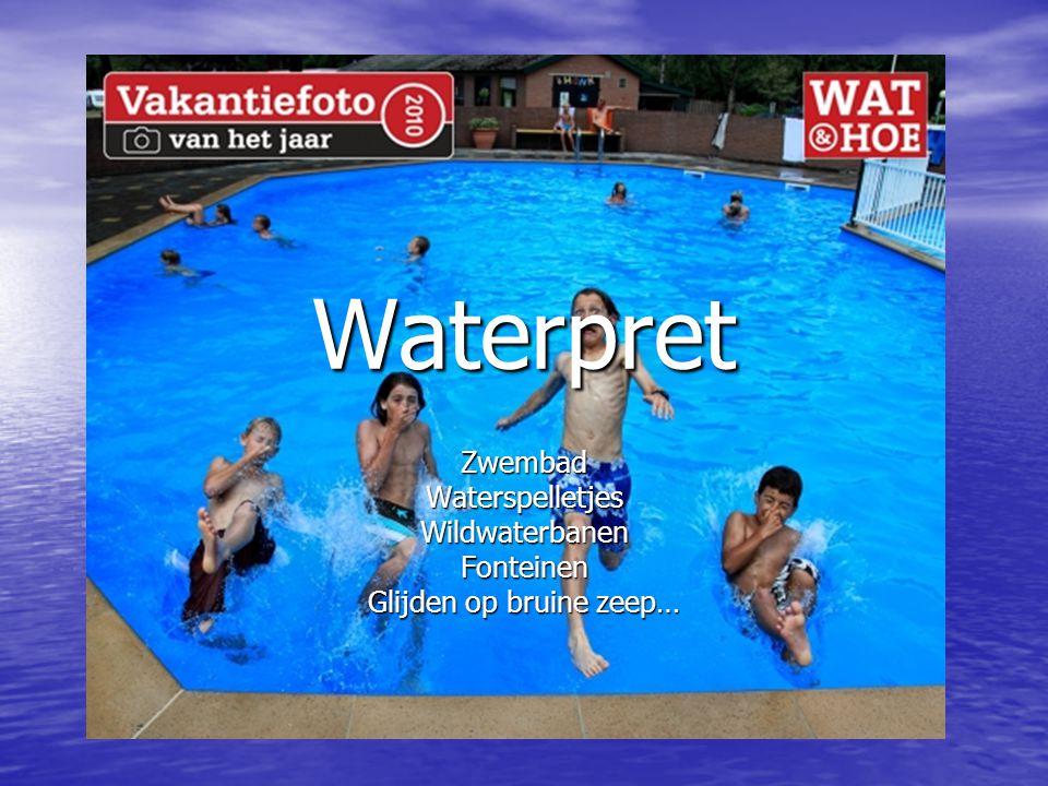 Waterpret ZwembadWaterspelletjesWildwaterbanenFonteinen Glijden op bruine zeep…