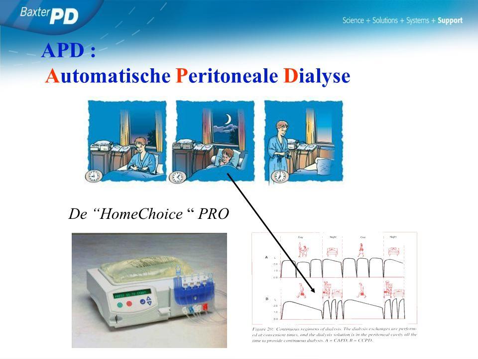 "De ""HomeChoice "" PRO APD : Automatische Peritoneale Dialyse"