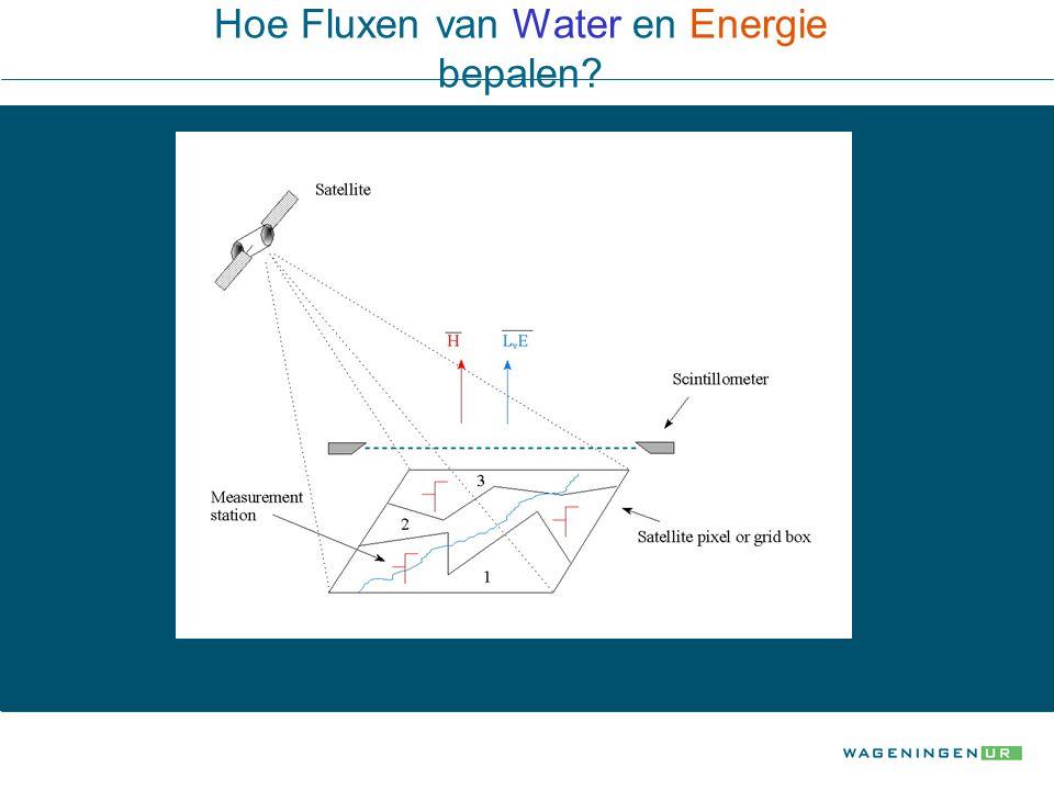Hoe Fluxen van Water en Energie bepalen?