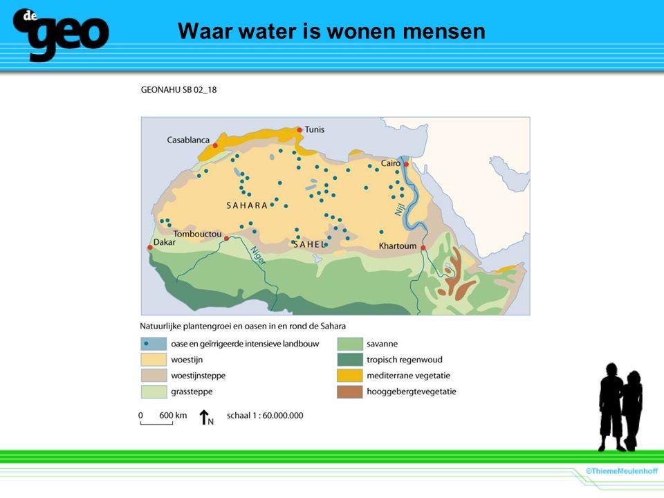 Waar water is wonen mensen